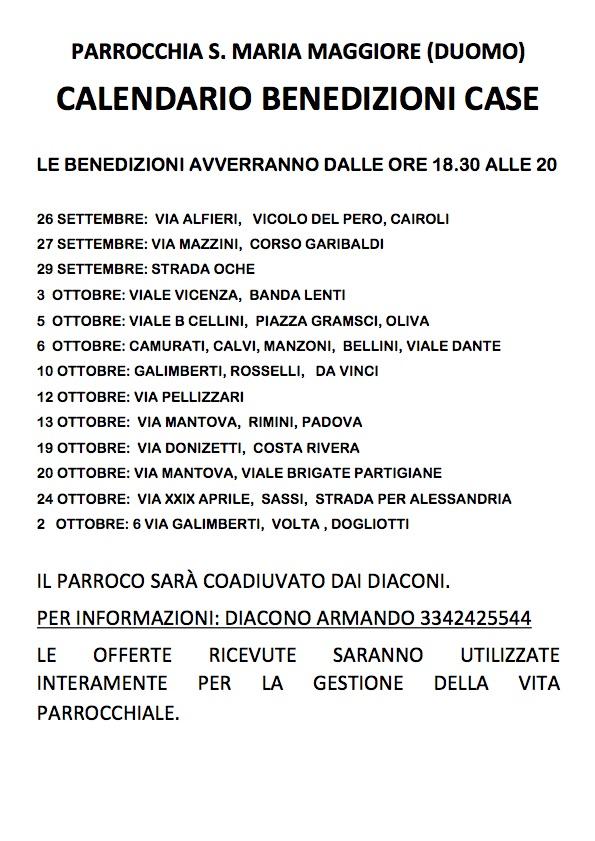 Benedizioni Duomo